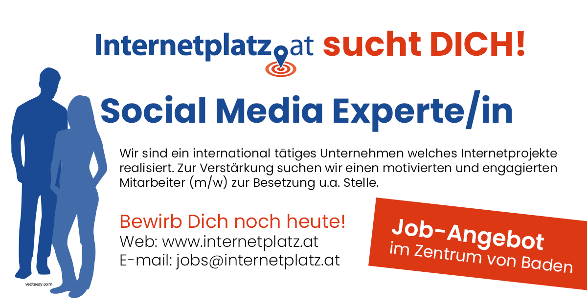 Job-Angebot Social Media Experte/in